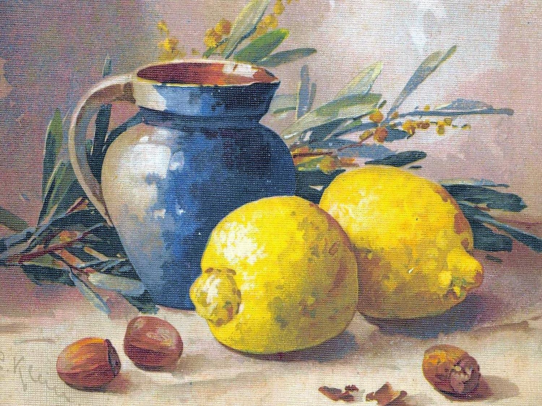 - Still Life Pot Lemon By Catherine Klein Accent Tile Mural Kitchen