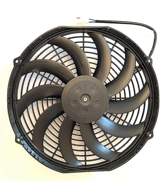 """SPAL 30101522 12"""" Fan Puller Curved Blades 12 VOLT High-Performance 1226 cfm"""