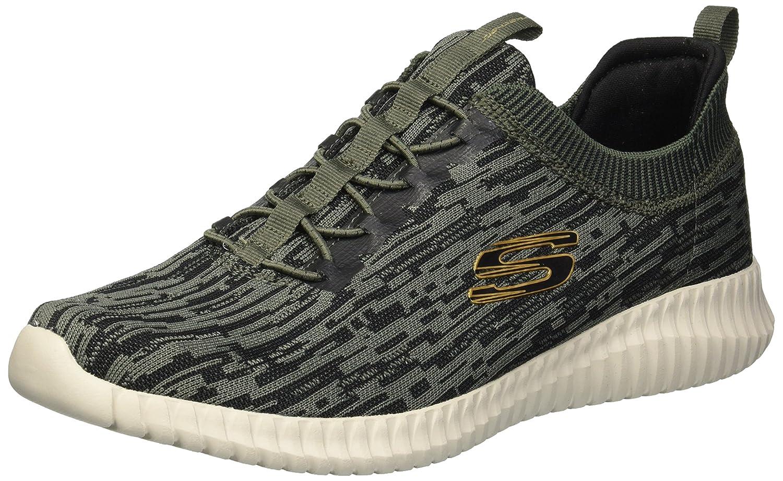 Skechers Elite Flex-Hartnell, Zapatillas para Hombre 46 EU|Verde (Olive/Black Olbk)