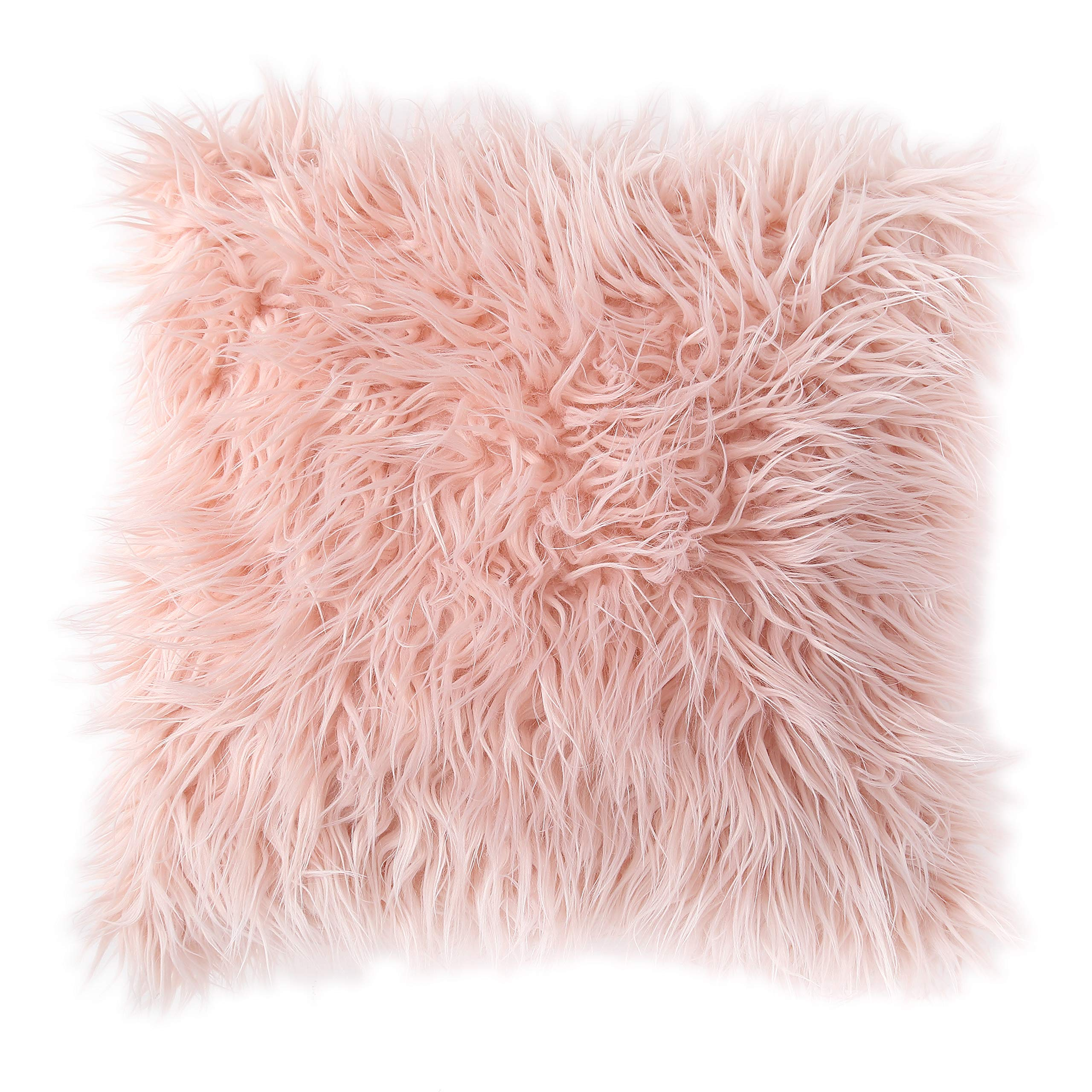 Morgan Home Decorative Faux Fur Throw Pillow Cushions Cover for Sofa Couch or Bed - 18 x 18 inches, 1 PC