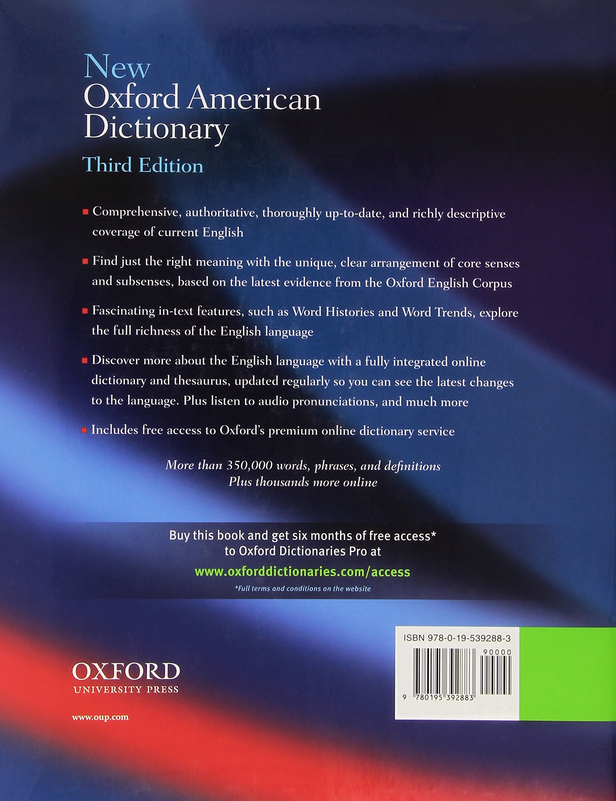 New Oxford American Dictionary 3rd Edition by Oxford University Press