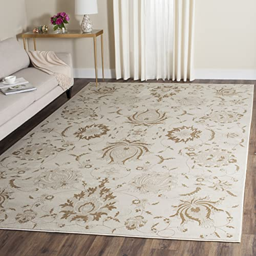 Safavieh Vintage Collection VTG579M Transitional Cream and Camel Distressed Area Rug 9 x 12