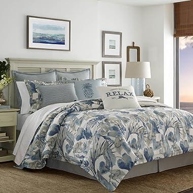 Tommy Bahama 221194 Raw Coast Comforter Set, California King, Blue