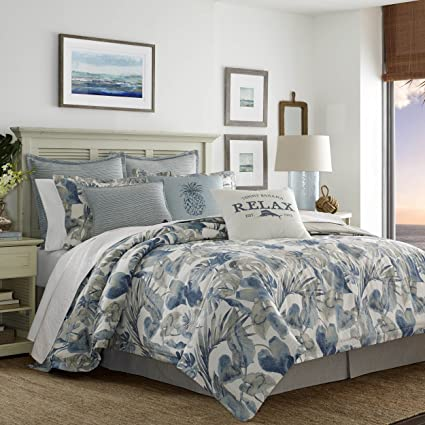 Tommy Bahama 221193 Raw Coast Comforter Set,Blue,King