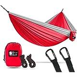 Bear Butt Double Parachute Camping Hammock, Red / Gray