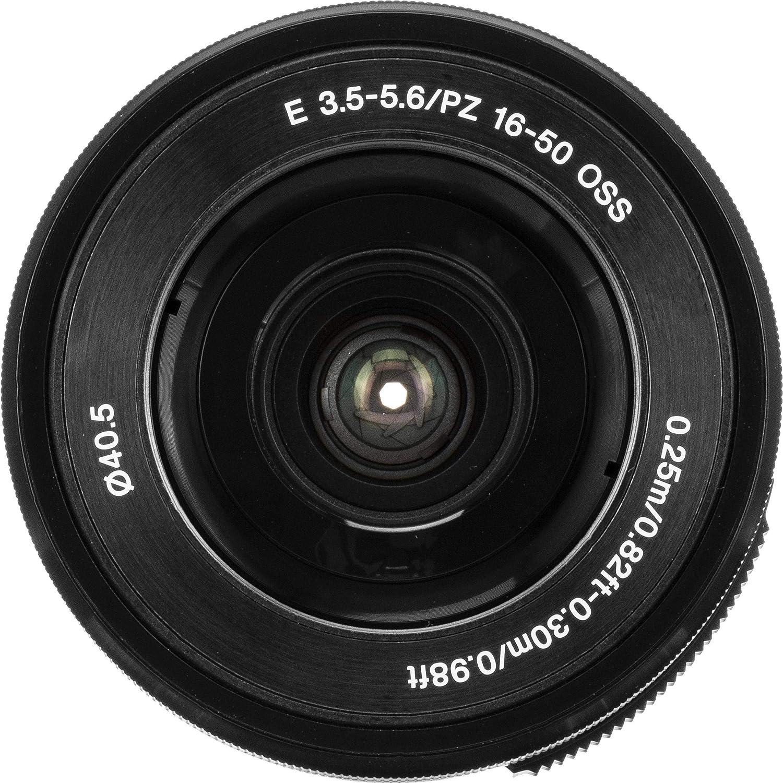 1 Year AOM Warranty + AOM Pro Starter Bundle Kit Combo Black International Version Sony SELP1650 16-50mm OSS Lens: Sony E PZ 16-50mm f//3.5-5.6 OSS Lens