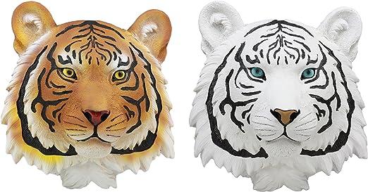 "7.5/"" Tall White Tiger Head 3D Wall Art by DWK Figurine"
