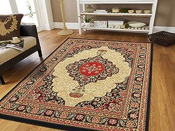 Amazon Com Large Area Rug Oriental Carpet 8x11 Living Room Rugs