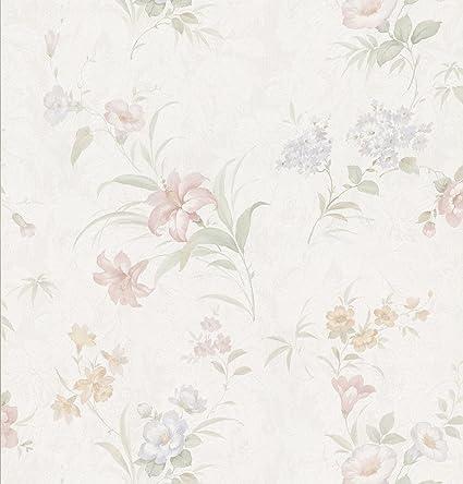 Brewster 149-73317 Wenquien Pastel Floral Pattern Wallpaper - - Amazon.com