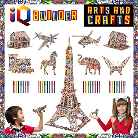 Amazon Com Iq Builder Fun Creative Diy Arts And Crafts Kit Best