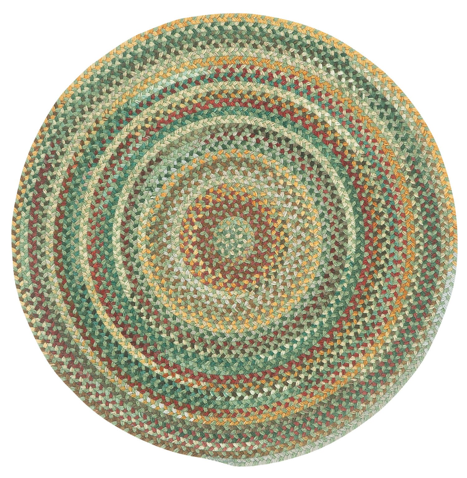 Capel Rugs Sherwood Forest Round Braided Area Rug, 36'', Pine Wood