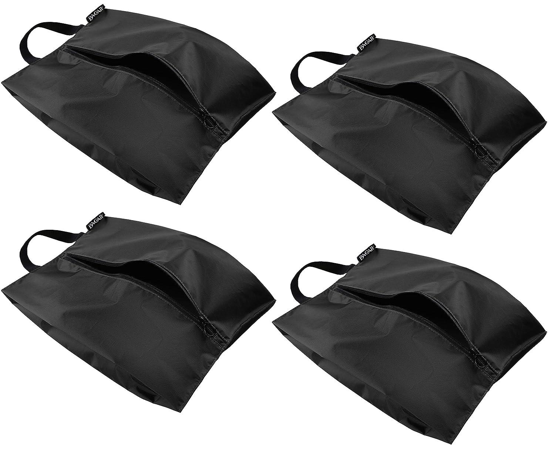 Bagail Travel Shoe Bags Set of 4 Lightweight Waterproof Nylon Storage Bag for Men & Women bag004-black-M
