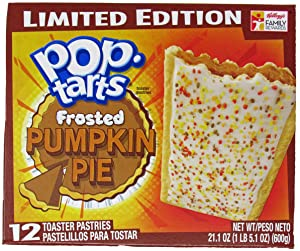 Kellogg's Pop-Tarts - Pumpkin Pie (Limited Edition) - 12 Toaster Pastries, 21.1-oz.