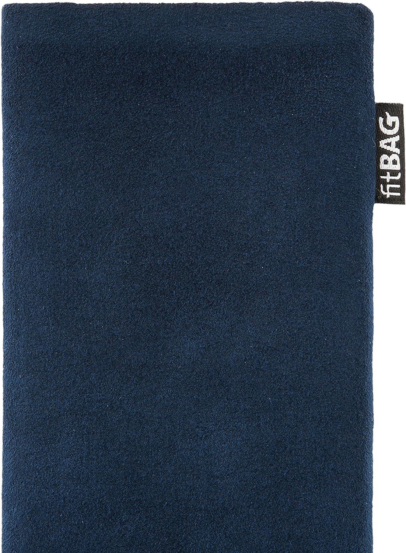 Made in Germany H/ülle mit Reinigungsfunktion fitBAG Classic Blau Handytasche Tasche aus original Alcantara mit Microfaserinnenfutter f/ür Caterpillar Cat S52
