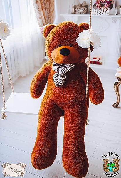 af54dce1fc5a MyTeddyWorld Giant Teddy Bear 140-200 cm - Dark Brown 140 cm Huge Large Soft