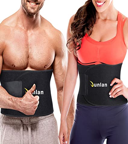 8652ade17b Junlan Workout Waist Trainer Weight Loss Trimmer Belt Corset Exercise Body  Band Gym Sauna Sweat Wrap
