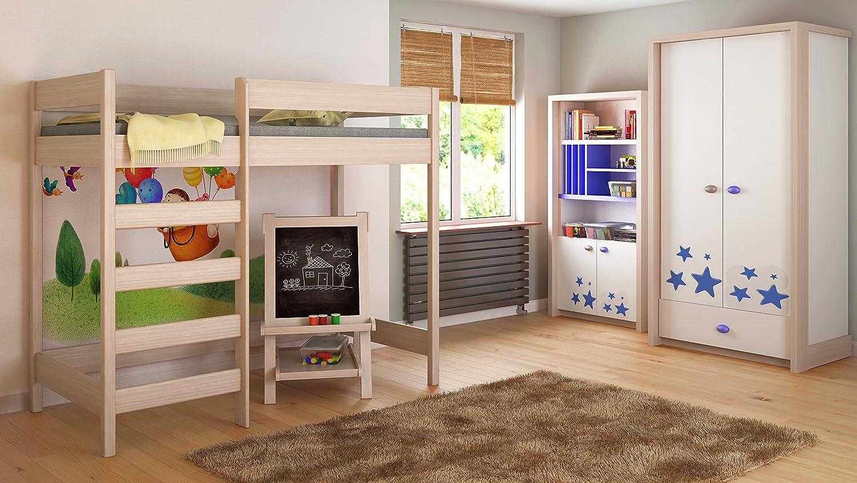 Etagenbett Zu Verschenken : Flexa classic in etagenbett mit gerader leiter und gästebett