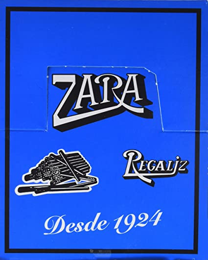 Zara CAJA REGALIZ SIN AZUCAR 100 BARRITAS: Amazon.es: Alimentación y bebidas