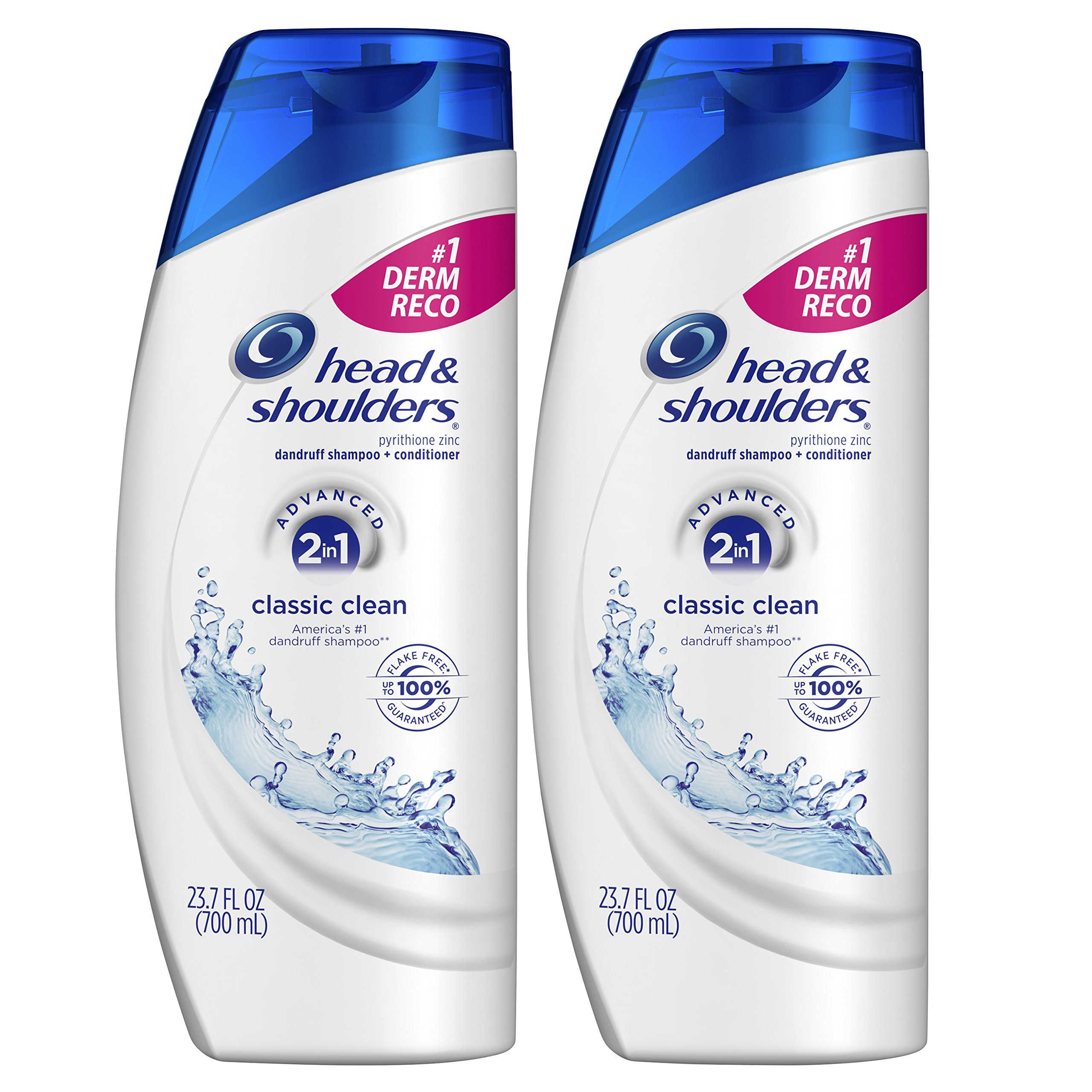 Head and Shoulders Classic Clean 2 in 1 Anti Dandruff Shampoo and Conditioner, 23.7 Fl Oz (Pack of 2) by Head & Shoulders