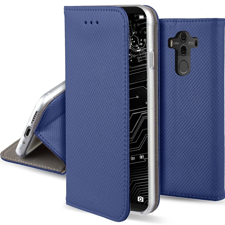超可爱の Huawei Mate 10 Pro用Moozyケースフリップカバー Huawei B07BF9MGXB 10、ダークブルー - 折りたたみ式スタンド付きスマート磁気フリップケース B07BF9MGXB, 新品本物:bae45bc8 --- movellplanejado.com.br