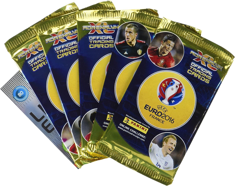 Panini-003029BLBF7 Paquete de 5 bolsas + 1 tarjeta Adrenalyn XL edición limitada UEFA EURO 2016: Amazon.es: Juguetes y juegos
