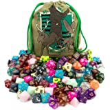 Wiz Dice Bag of Tricks: Collection of 140 Polyhedral Dice in 20 Guaranteed Complete Sets for Tabletop Role-Playing Games – Ne