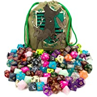 Wiz Dice Bag of Tricks: Collection of 140 Polyhedral Dice in 20 Guaranteed Complete Sets for Tabletop Role-Playing Games – Neons, Translucents, & Sparkly Glitters