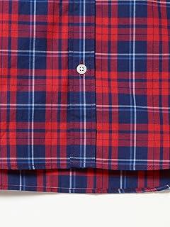 Plaid Buttondown Shirt 11-11-3875-107: Red