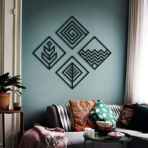 Hencely Four Elements Metal Wall Art