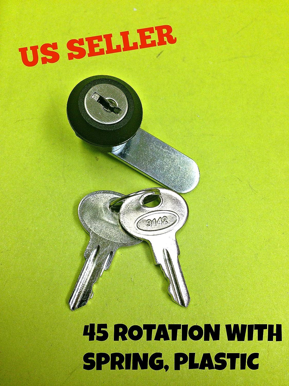 45° Cam Lock With Spring File Cabinet Mailbox Desk Drawer Cupboard Locker 2 Keys