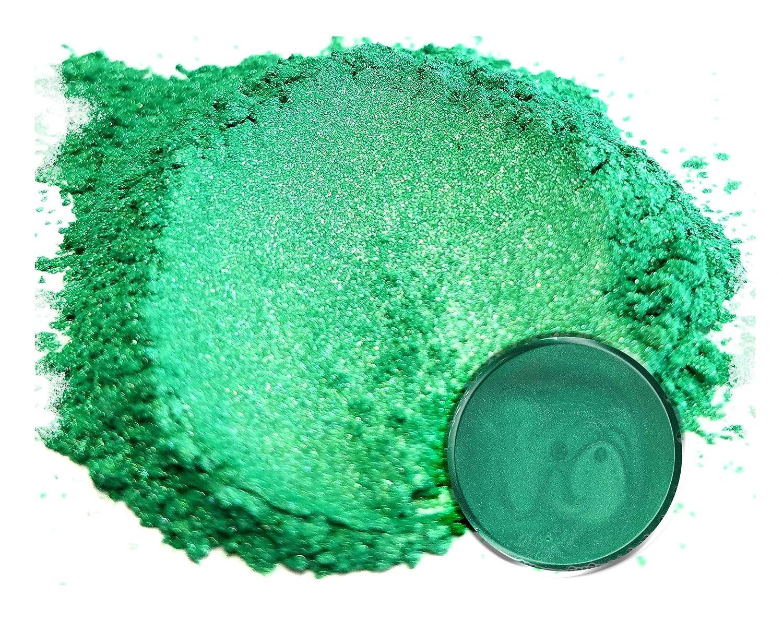 Eye Candy Pearls 50 gr Rainbow Green Mica Powder Pigments (Resin, Paint, Epoxy, Soaps, Nail Polish, Liquid Wraps) Eye Candy Customz ECC-01049A