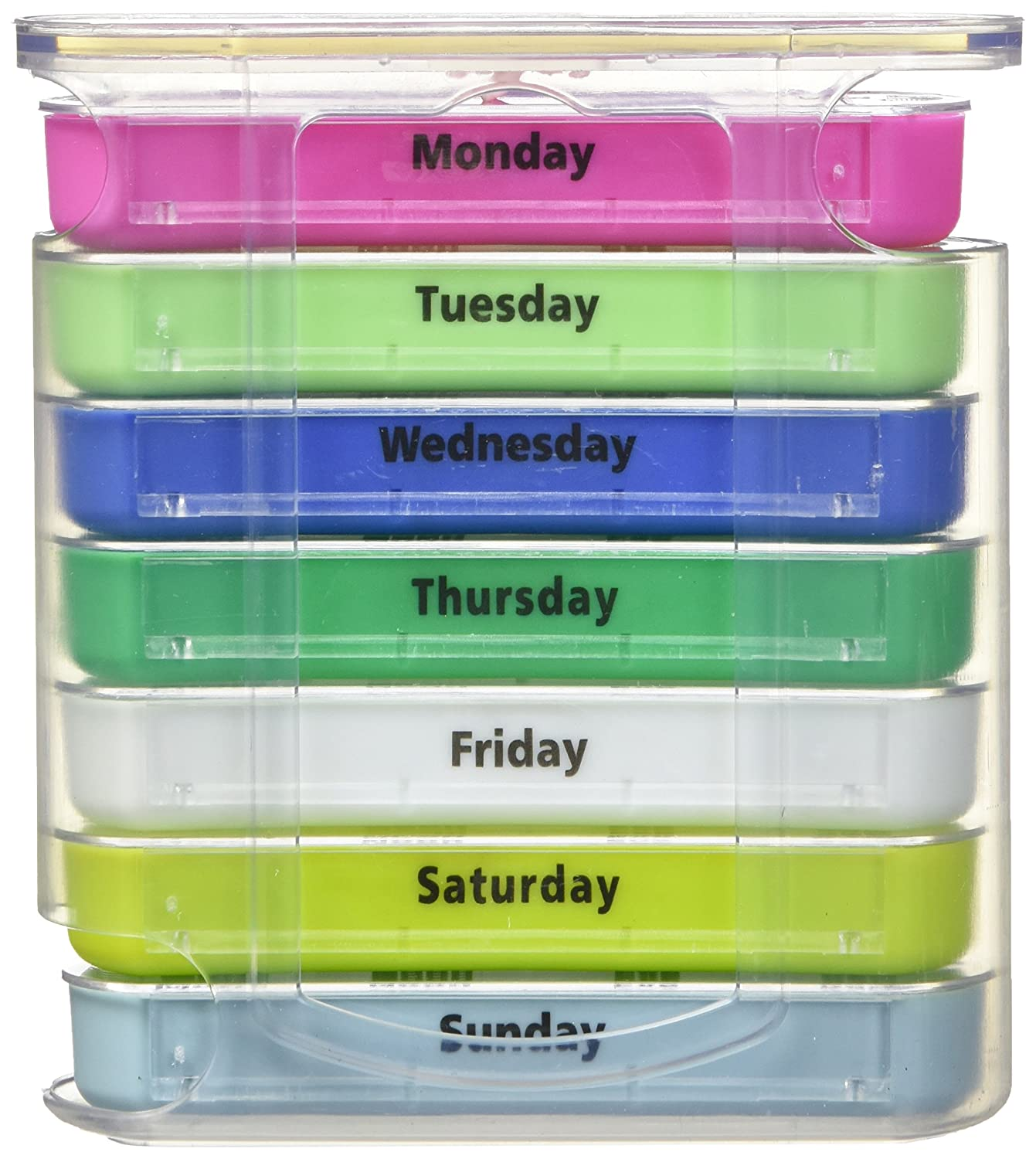 Amazon.com: Pill Organizer Box Weekly Case with Pill Splitter Cutter ...