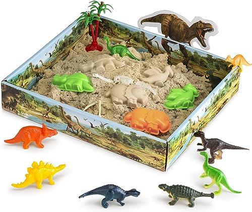 CoolSand 3D Sandbox Dino Discovery Edition with dinosaur toys