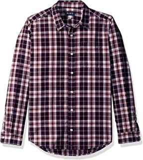 The Children's Place Big Boys' Plaid Poplin Shirt