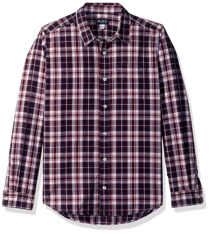 The Children's Place Boys' Big Plaid Poplin Shirt 2084152