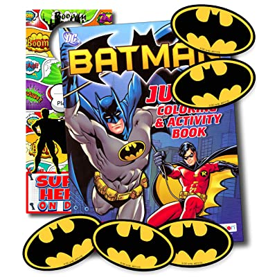 Disney Coloring Books for Kids with Stickers - Mickey Mouse, Minnie Mouse, Moana, Black Panther and More! (Batman): Office Products