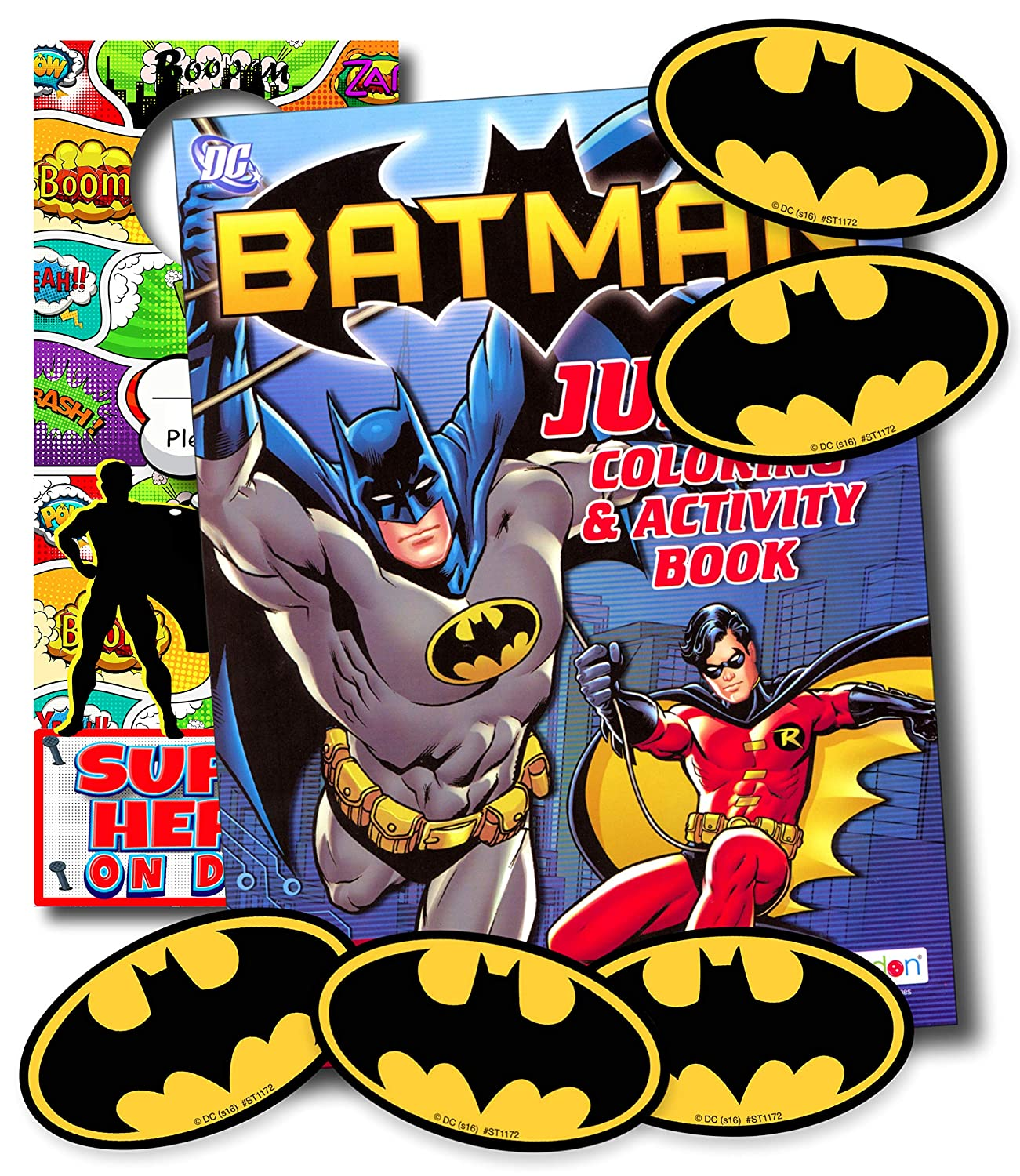Amazon com disney coloring books for kids with stickers mickey mouse minnie mouse moana black panther and more batman office products