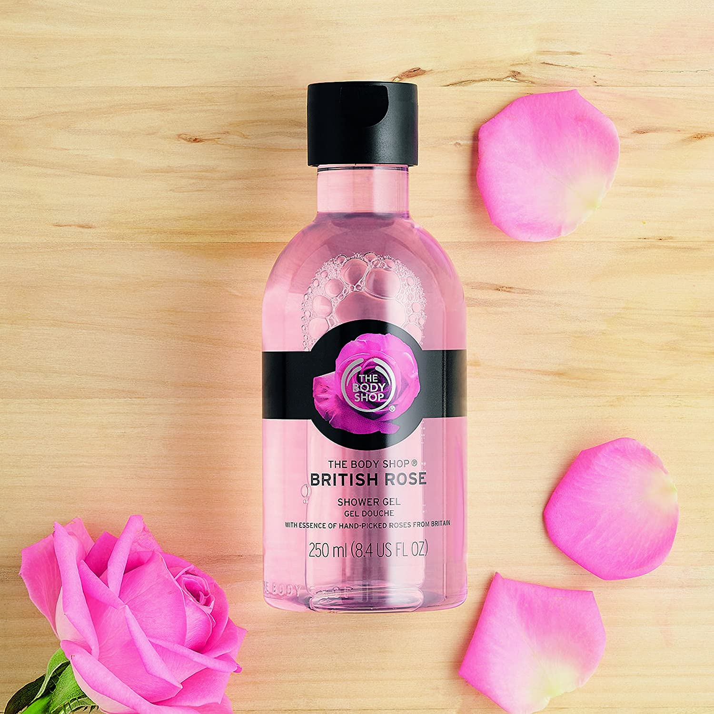 Amazon.com : The Body Shop British Rose Petal Soft Shower Gel, 8.4 ...