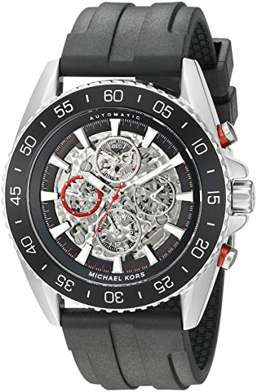 4396149ef Image Unavailable. Image not available for. Color: Michael Kors Men's Jet  Master Black Watch MK9013