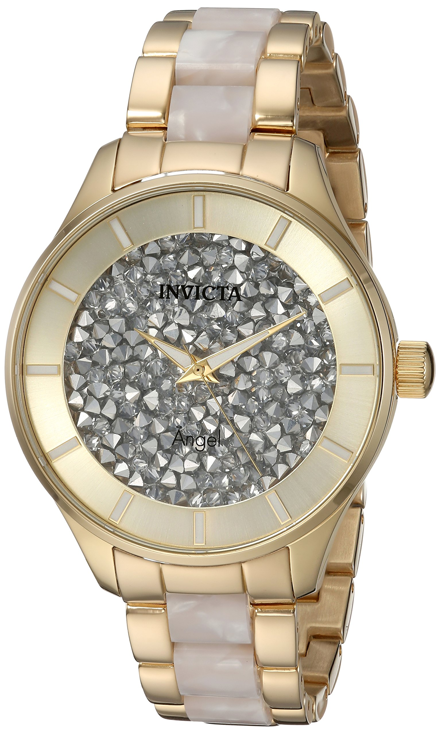 ویکالا · خرید  اصل اورجینال · خرید از آمازون · Invicta Women's 'Angel' Quartz Stainless Steel Casual Watch, Color:Two Tone (Model: 24666) wekala · ویکالا