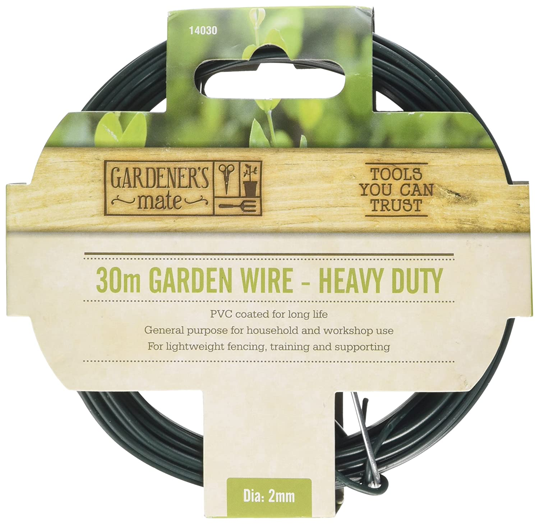 Gardener\'s Mate 14020 Heavy Duty Garden Wire, Green, 30 m: Amazon.co ...