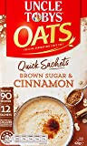 UNCLE TOBYS Oats Quick Sachets Brown Sugar & Cinnamon, 12 Sachets, 420g