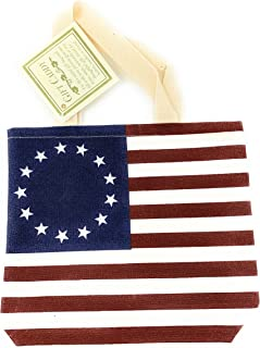 product image for Betsy Ross American Flag Tote For Carrying Small Groceries Caddy For Gourmet Items, Soaps, Notecards, Jams And More