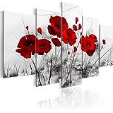 murando – Impression sur toile 100x50 cm - 5 pieces - Image sur toile - Images - Photo - Tableau - motif moderne - Décoration - tendu sur chassis - Fleurs 0107-5