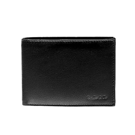 Boudier & Cie W-1523sw - Billetera cartera Premium para hombre estilo italiano hecha en