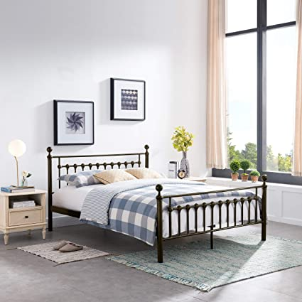 86096a70e35 Amazon.com  Great Deal Furniture Bradford Queen Size Bed in Dark ...