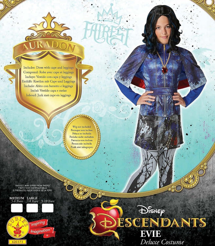 Rubies Disney Descendants- Disfraz de Lujo, Evie, Azul (Blue Print), Mediano: Amazon.es: Juguetes y juegos