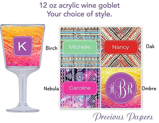 Personalized Plastic Wine Glasses Plastic Stemless Wine Glasses
