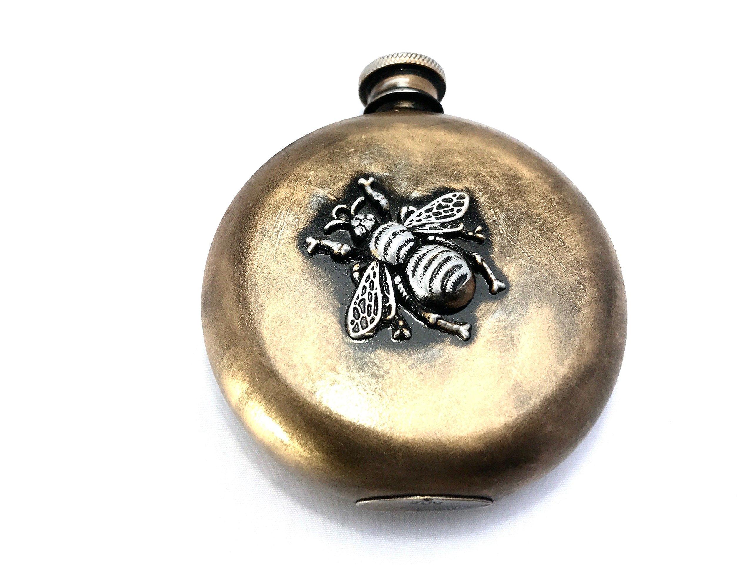 Bee Steampunk Flask
