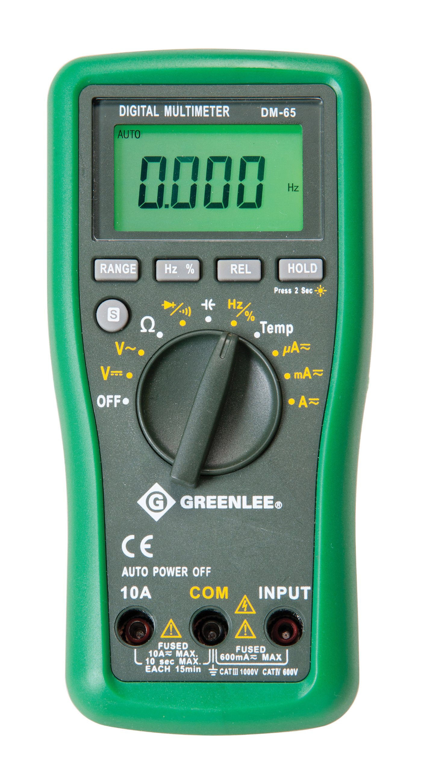 Greenlee DM-65 CATIII 1000V CATIV600V Auto Ranging Digital Multimeter
